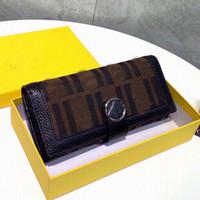 محفظة محفظة متعددة الوظائف قماش جلد طبيعي hasp محافظ الأزياء f إلكتروني المرأة الطويلة محفظة بطاقة حامل فتحة عملة محفظة هدية مربع