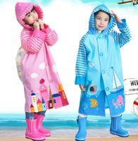 الأطفال المعطف جديد الكرتون فتاة بوي أطفال الطلاب دراجة المعطف المطر معطف ماء المطر في الهواء الطلق