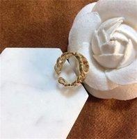 Luxury female designer 2021CD Internet ladies temperament letter ring