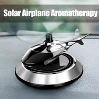 Car Air Freshener Solar Powered Rotating Helicopter Auto Perfume Supplies Airplane Ornament Styling Accessories