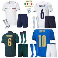 2021 2022 Italien Kinder Fußball-Trikots Sets Trainingsanzüge Insignne Immobil Chiesa Jorginho Pellegrini Verratti Belotti Barella 21 22 Football Boys Shorts Shorts Socken