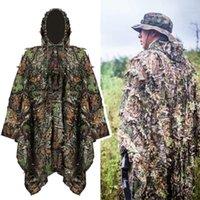 Conjuntos de caça Ao Ar Livre Moro Ghillie Camisa de Tiro Terno 3D Camuflagem Sniper Vestido Folhas Multicam Poncho Cloak Stealth Bloak1