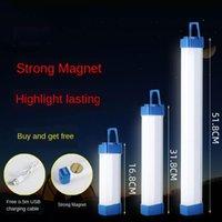 휴대용 랜턴 LED 충전식 야간 시장 마구간 조명 모바일 충전 가정용 정전 비상 조명 자석 튜브