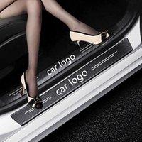 4 шт. Автомобильная дверь подоконника Анти-царапина Углеродные волокна Наклейки Автомобильные Защита Дверной Двери Украшения Аксессуары для VW Renault Mazda Ford Kia Kia