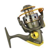 Nuevo modelo de carrete Pesca Carrete de aluminio Spinning Fly Rock Pesca Carretes de pesca Cebo Casting Rueda de barco