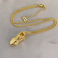 Fashion Classic Old Shoes Necklace Metal Wind Cold Style Hip-Hop All-Match Pendant Clavicle Chain Men And Women Jewelry