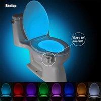 Beefup WC Luz da noite LED lâmpada inteligente banheiro backlight humano movimento ativado pip 8 cores automático RGB para luzes de vaso sanitário