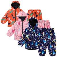Keaiyouhuo Sport se adapta a los niños conjuntos de ropa para niños Impermeable de manga larga Ropa para niños Traje impermeable para niñas 2 a 5 y 210806