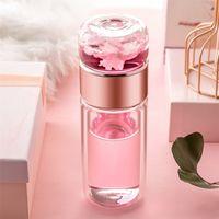 Ldfchennel 280ml parede dupla vidro garrafas de água infuser filtro de chá separação de chá copo de chá copo de chá de viagem de vidro frasco 201221