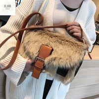 Fashion Fur Women Shoulder Bags Deisgner Big Crossbody Bag Large Capacity Totes Flap Female Winter Wild Hairy Messenger Bag 2021