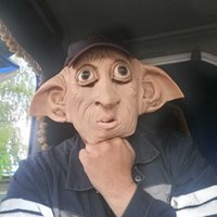 Halloween Latex Elf Cosplay Mask Tricky and Funny Style Halloween Carnival Party Costume Masquerade Party Acting Props 2021 New H0910