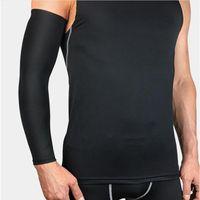 1 stücke laufende mann sport support radfahren schutz arm wärmer elbow sleeve protector outdoor radfahren gym basketball armhülse