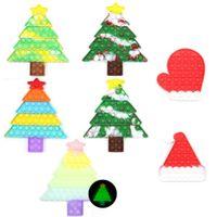 Árbol de Navidad Push Pop Bubble Sensory Fidget Juguete Anti-Estrés Relajante Autismo Juguetes Estrés Alivio Educación para adultos Niño gratis DHL