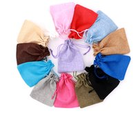 1 Piece (7x9cm) Linen Jute Drawstring Gift Bags Jewelry Packaging Bag Wedding Party Decoration Favors Drawable Gift Bag & Pouche