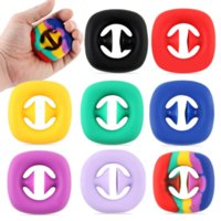 Fidgets 2022 Snap Sensory Silicone Hand Grip Toy Snappers Fidget Brinquedos Fidget Sensory Grip Ring DHL RIGHT C2992