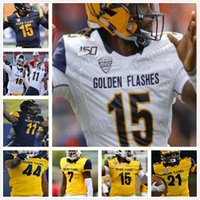 Kent Kent State Golden lampeggia College Football Julian Edelman James Harrison Usaama Young Mens Youth Donne Cucitate NCAA Jerseys