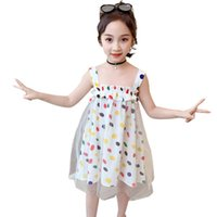 Girl's Dresses Teenage Girls Dress Dot Pattern Girl Party Mesh Children Summer Clothes For