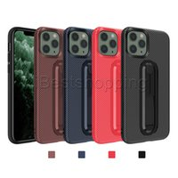 Funda de fibra de carbono TPU suave con stents para iPhone 11 Pro Max XR XS X 8 7 6S PLUS