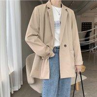 Men's Suits & Blazers Privathinker - men's large suit, Harajuku casual jacket, solid color, autumn fashion
