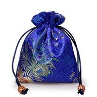 Pochette en soie à broder de haute qualité 11x14cm Bijoux de voyage de voyage Pochette Mini Candy Jute Sacs d'emballage pour sac de cadeau (1PC / lot)