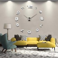 Wall Clocks 2021 Large Home Decoration Clock 47inch Personalized Big 3d Diy Quartz Acrylic Mirror Sticker Modern