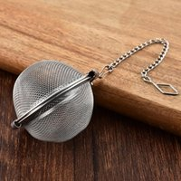 Stainless Steel Tea Pot Infuser Sphere Locking Spice Tea Ball Strainer Mesh Infuser tea strainer Filter infusor HHE9720