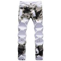 Men's Jeans 2022 Fashion Printed Men Hip Hop Streetwear Cotton Denim Pants Slim Fit Male Casual Long Trousers