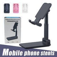 Cell Phone Mounts Foldable Holder Mobile Adjustable Flexible Desk Stand Compatiable with Android Smartphone For iPhone 11 XR XS Pro Max in Retail Box