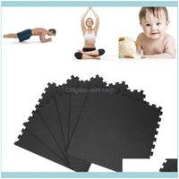 Suministros de yoga Outdoorsyoga Mats 6 PCS Mat EVA Niños Antideslizante Comfort Fitness Ejercicio impermeable para Pilates Gota deportiva