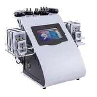 6 en 1 Frecuencia de radio con láser de vacío RF 40K Cavitación corporal Máquina láser Lipo Liposucción Máquina de cavitación ultrasónica de liposucción Máquina para adelgazar