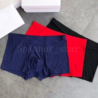 Mens Underpants Boxer Briefs Ice Silk Smooth Breathable Mid-waist Four-corner Trousers Seamless High-quality