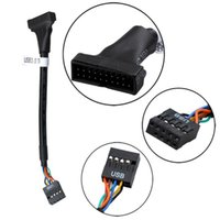 Audio Cables & Connectors 2 PCS USB 3.0 20 Pin Header Male To 2.0 9 Motherboard Female Adapter Cable For USB3.0 Series Converter ABS Line