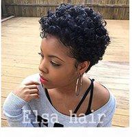 Celebridade Afro Kinky Curl Glueless Cap Natural Indiano Remy Cabelo Humano Regular Máquina Acessível Feito Peruca Curta Para Mulheres Negras