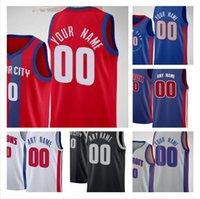 2 Cade Cunningham Jersey Özel Detroits Jerami 9 Grant Piston Basketbol Formaları Josh 20 Jackson Saddiq 41 Bey Hamidou 6 Diallo Killian 7 Hayes Doumbouya 28 Stewart