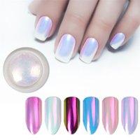 1 box perle nagel glitter fee pulver neon schimmern spiegel meerjungfrau tauchen shell weiß nagel chrom pigment staub polnisch dekoration