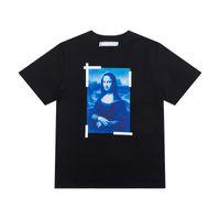 Moda di alta qualità in cotone maniche corte Mona Lisa pittura a olio T Shirt da uomo Top T-shirt T-shirt Casual Donne Tee Shirt X Stampa estate Top