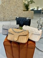 2021 Klasik Marmonts Zincir Çanta Geometrik Koleksiyonu BB MM Mamon Bayan Alışveriş Crossbody Çanta Luxurys Tasarımcı Omuz Çantaları