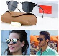 Роскошный модный бренд поляризованный дизайнер Солнцезащитные очки Мужские Женщины Пилот UV400 Очки Очки Металлические Рамы Polaroid Линза Кожаный Чехол Скрелочный Ящик Аксессуары
