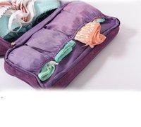 旅行の多機能ブラウン下着収納バッグ梱包オーガナイザーソックス化粧品ケース大容量の女性服ポーチバッグDWA7263