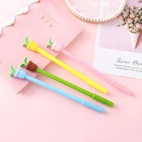 Gel Pens Potted Plant Pen Cute 0.5 Mm Black Ink Signature Promotional Gift Stationery School Supplies