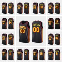 Benutzerdefinierte Männer Basketball Jersey TRAE Junger Cam Rötlich Kevin Huerter Dewayne Dedmon Danilo Gallinari 2020-21 Erklärung