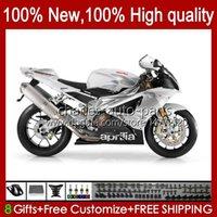 Moto-Karosserie für Aprilia Mille RV60 RSV1000 RRR 2004 2005 2006 RSV1000RR RSV1000R 04-06 RSV 1000 RSV1000R 04-06 RSV 1000 R 1000R 1000RR 04 05 06 Verkleidungsset weiß silbrig