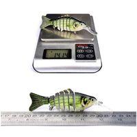 새로운 멀티 조인트 낚시 미끼 7 세그먼트 Jerkbait 11.2cm 14g 현실적인 수영베이스 wobbler 미끼 6 # blac jllxqk soif