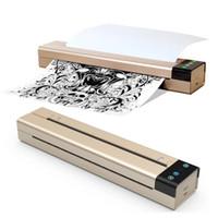 미니 문신 전송 기계 TOEC 열 스텐실 복사기 휴대용 문신 프린터 USB 와이파이 블루투스 연결