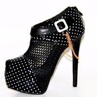 Обувь платье FGHGF Extreme High Caels Black Fashion Womens Peep-Toe Pumps Sexy 16CM Super Platform Vogue Readkle.