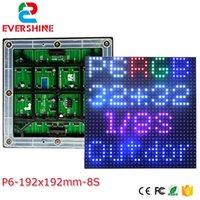 Evershine 6mm P6 SMD3535 RGB RGB 192x192mm 32 * 32pixels 1/8 Varredura Full Color LED Módulo Alto Brilho Shenzhen Fábrica