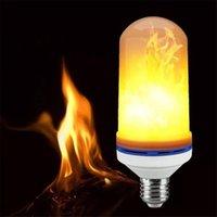 المصابيح E27 90 الصمام اللهب لمبة الإبداعية الخفقان محاكاة الجو الديكور النار تأثير مصباح شمعة ضوء الجملة 10 قطع