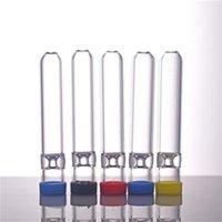 Pontas do filtro de vidro de 7cm com a boca redonda plana para o suporte do cigarro do tabaco de rolo cru do cigarro do tabaco filtro com tampas e adesivos