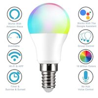 Bulbs WiFi Smart Light Light Lampadina E14 LED RGB Lampada Controllo vocale Lavoro con la casa 85-265V RGB + C + W Dimmable Timer Funzione