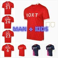 رجل Kids Kit 21 22 Nottingham Forest Home Soccer Jerseys Lolley Grabban 2021 2022 Watson كرة القدم قميص موحد جودة تايلاند